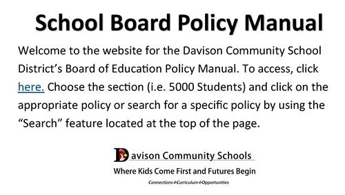 School Board Policy Manual