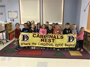 Cardinal's Nest preschool students