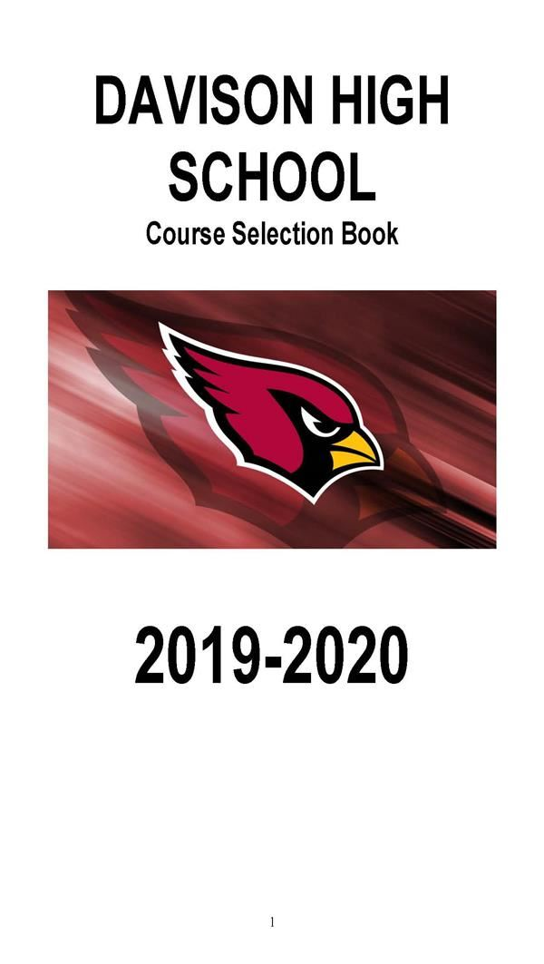 Cover of 2019-20 DHS Course Selection Book