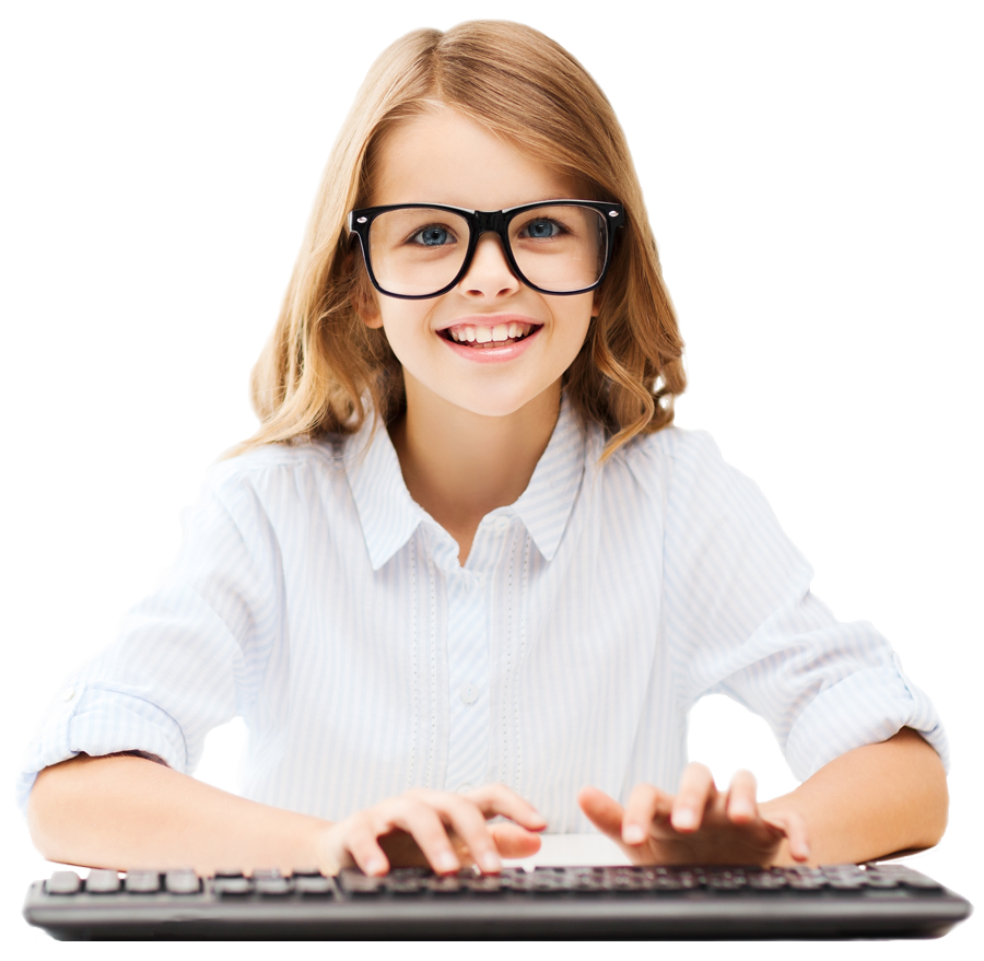 DCS Online Learning Picture of Girl on Computer