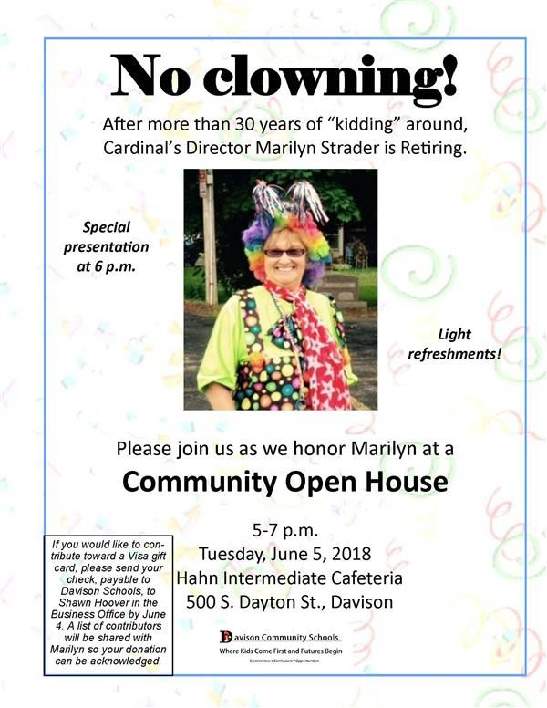 Community Retirement Open House for Marilyn Strader